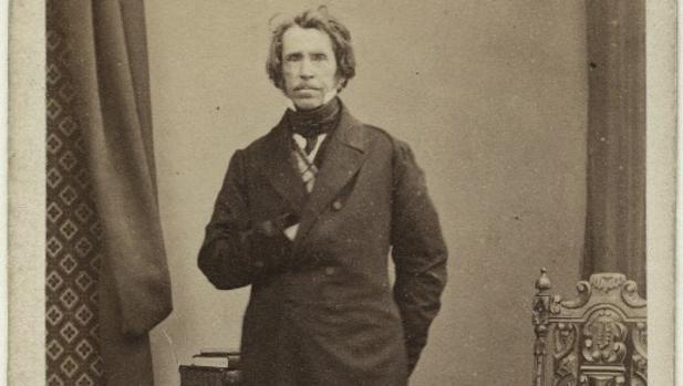 Fotografía de Lacy Evans, en 1860, expuesta en la National Portrait Gallery