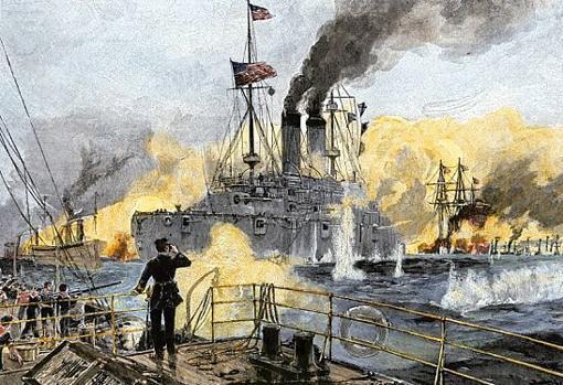 Acorazados estadounidenses, en la batalla de Manila