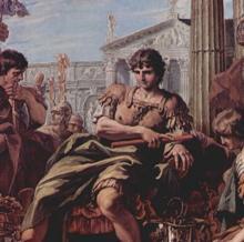 La clemencia de Escipión. Cuadro de Sebastiano Ricci en la Royal Art Colection de Londres.