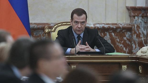 El primer ministro ruso, Dimitri Medvédev