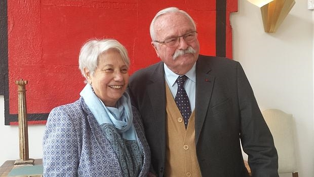 Roger Bordage y su mujer,