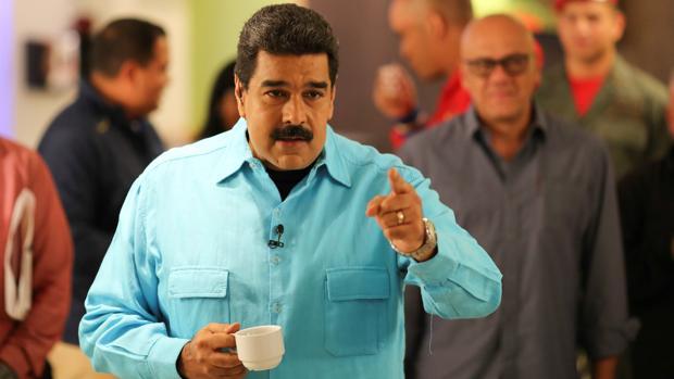 El presidente de Venezuela, Nicolás Maduro, en una intervención durante la grabación de su programa de televisión