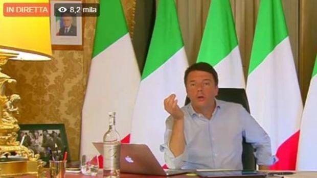 El primer ministro italiano, Matteo Renzi, habla en directo sobre el veto que Italia pone al presupuesto europeo