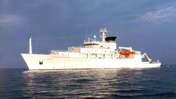 El «USNS Bowditch», un barco científico oceanográfico