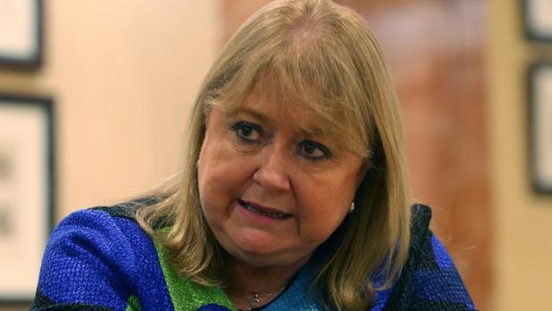 La ministra de Exteriores argentina, Susana Malcorra, durante la entrevista en Madrid