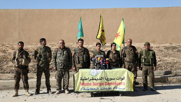 Comandantes de las Fuerzas Democráticas Sirias en Raqqa