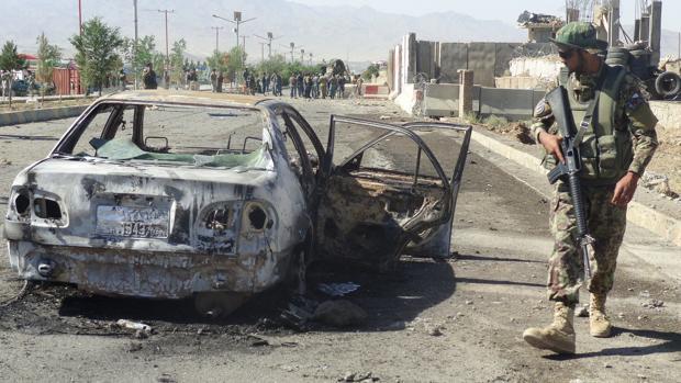 Un coche bomba que explotó la pasada semana en un cuartel de la policía afgana