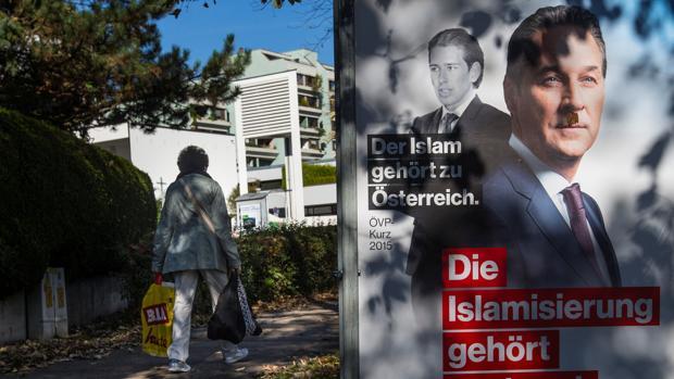 Cartel de campaña del líder del FPÖ, Christian Strache