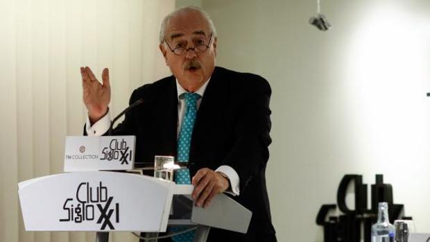 Andrés Pastrana, durante su conferencia en el Club Siglo XXI, en Madrid