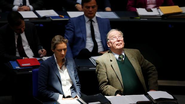 Dos parlamentarios del partido ultraderechista AFD en el Bundestag