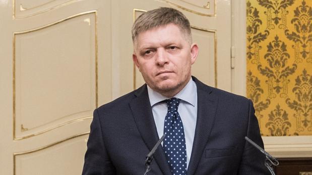 El primer ministro eslovaco, Robert Fico, en el momento de anunciar que tenía previsto dimitir