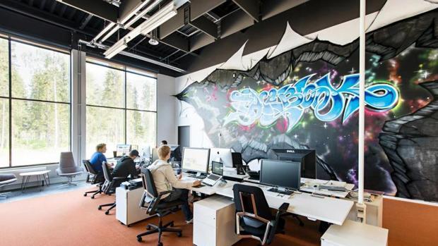 Oficina de un centro de datos de Facebook en Lulea (Suecia)