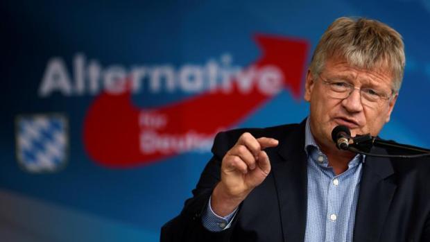 El colíder de la AfD, Joerg Meuthen, en un discurso a primeros de septiembre