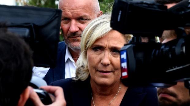 La líder de la Agrupación Nacional, Marine Le Pen