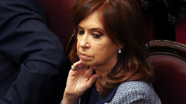Cristina Fernández de Kirchner, en el Senado argentino