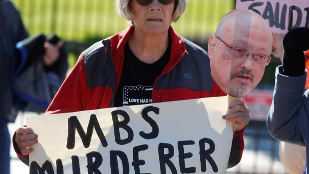 Activistas protestan por la incertidumbre en el caso Khashoggi