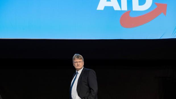 El copresidente de la ultraderechista Alternativa para Alemania (AfD), Jörg Meuthen, durante una convención del partido en Riesa