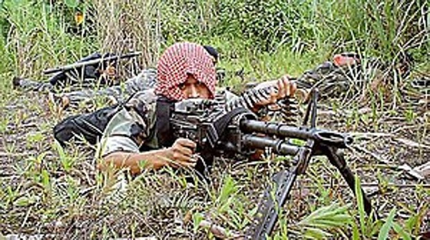 Un guerrillero del Frente Moro de Liberación Islámica antes del acuerdo de paz de 2014