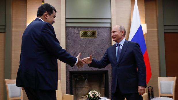 Vladímir Putin recibe a Nicolás Maduro en su residencia a las afueras de Moscú en diciembre de 2018