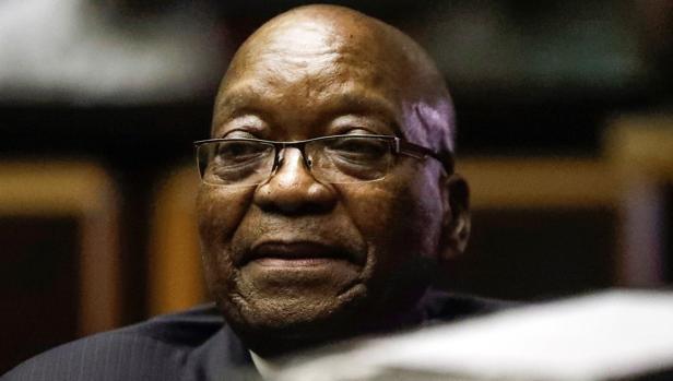 Zuma durante una sesión del juicio