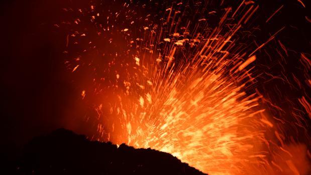 Imágenes de la erupción del volcán Etna
