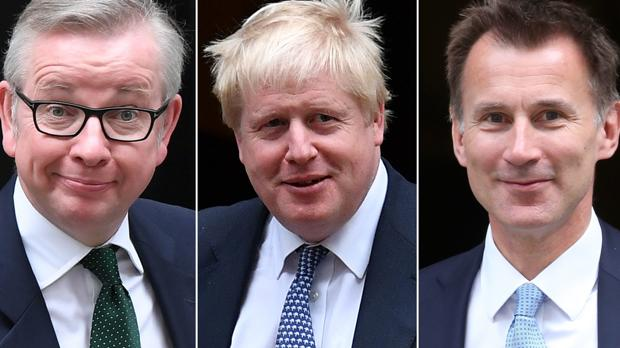 Michael Gove, Boris Johnson y Jeremy Hunt