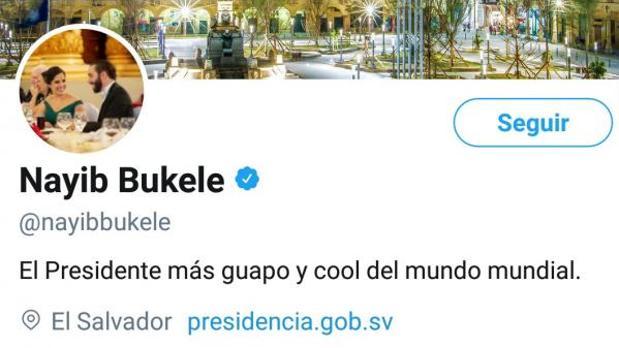 Perfíl Twitter del presidente de El Salvador