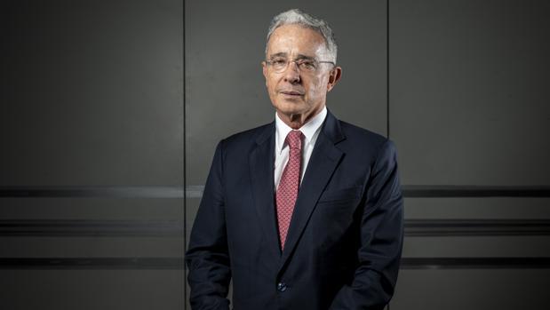 El expresidente de Colombia, Álvaro Uribe, el pasado jueves en Madrid