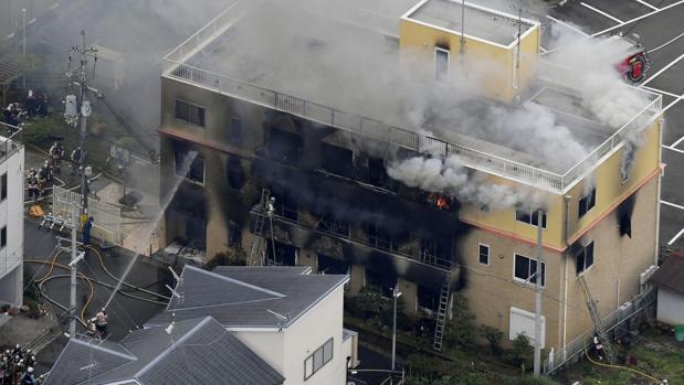 Suben a 33 los muertos por el incendio provocado en un estudio de animación de Japón