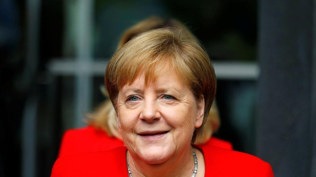 Angela Merkel durante la rueda de prensa de verano