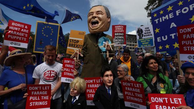 Protestas de Londres contra el Brexit