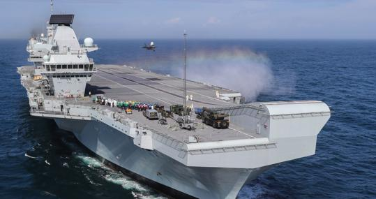 Portaviones Queen Elizabeth de la Royal Navy