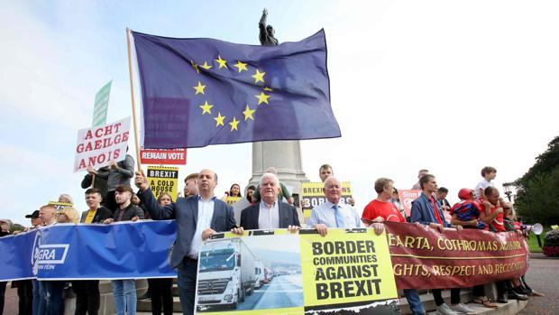 Protestas en Irlanda del Norte por la visita del Priemr minitro británico, Boris Johnson