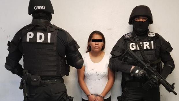 Una de las detenidas en la operación policial mexicana