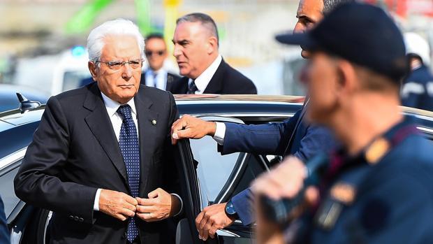 Sergio Mattarella, presidente de la República, el pasado 14 de agosto