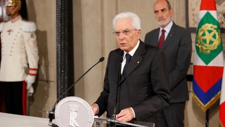 """Crisis política italiana va para largo"", dice Mattarella"
