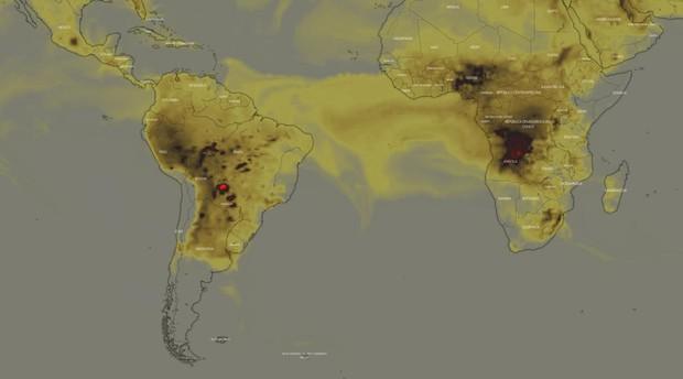Una imagen de la NASA muestra que hay más incendios activos en África central que en la Amazonia
