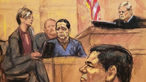 El Chapo, durante el juicio en Nueva York en el que fue sentenciado a cadena perpetua