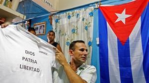 José Daniel Ferrer, poco antes de ser detenido