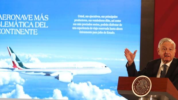 México propone rifar en cupones de 24 euros el avión presidencial que López Obrador no usa