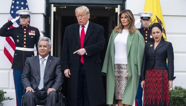 Trump recibe al presidente de Ecuador y le pone de ejemplo para el resto de América Latina