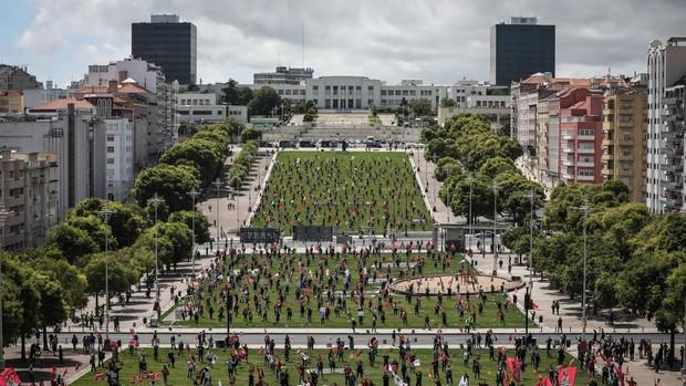Estupor en Portugal: el 1º de Mayo en la calle