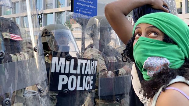 Reservistas de la Guardia Nacional se despliegan en torno a la capital