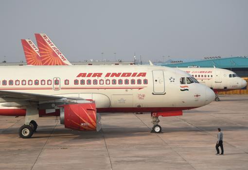 Imagen de aviones de Air India, tomada el pasado mes de marzo en Nueva Delhi