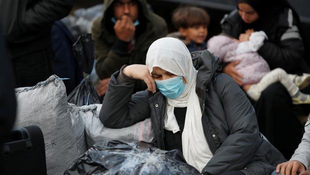 Primer caso de Covid-19 en el centro de refugiados de Moria, en Lesbos