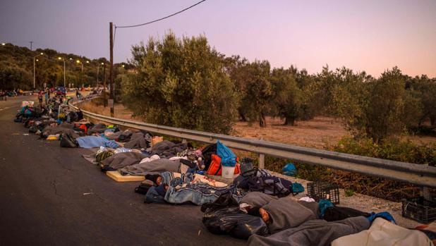Los residentes de Lesbos no quieren otro campo de refugiados