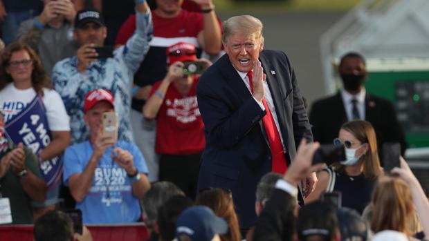 Sudor y furor para la remontada de Trump