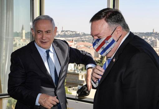 Israeli Prime Minister Benjamin Netanyahu meets Pompeo at the King David hotel