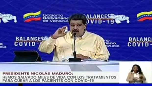 Maduro presenta unas gotas «milagrosas» que «neutralizan» el coronavirus