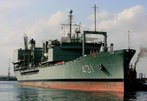 El buque iraní, atracado en Port Sudan, en el mar Rojo, en una imagen de 2012